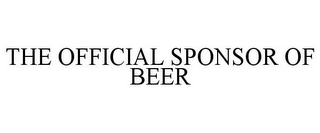 mark for THE OFFICIAL SPONSOR OF BEER, trademark #87944409