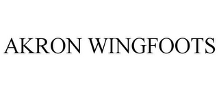 mark for AKRON WINGFOOTS, trademark #87953992