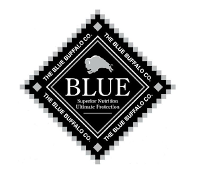 mark for BLUE SUPERIOR NUTRITION ULTIMATE PROTECTION THE BLUE BUFFALO CO., trademark #87954011