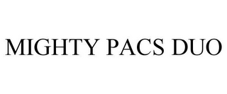 mark for MIGHTY PACS DUO, trademark #88002129