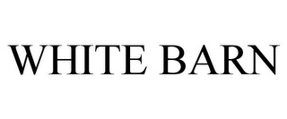 mark for WHITE BARN, trademark #88091178