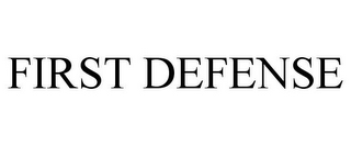 mark for FIRST DEFENSE, trademark #88159909