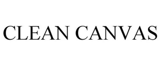 mark for CLEAN CANVAS, trademark #88211676
