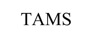 mark for TAMS, trademark #88219539