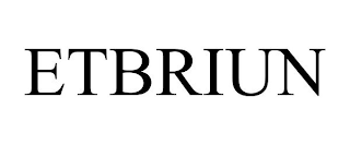 mark for ETBRIUN, trademark #88399563
