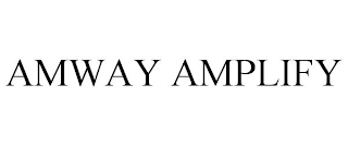 mark for AMWAY AMPLIFY, trademark #88407161