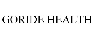 mark for GORIDE HEALTH, trademark #88415353