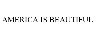 mark for AMERICA IS BEAUTIFUL, trademark #88487736