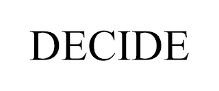 mark for DECIDE, trademark #88509595
