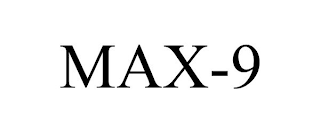 mark for MAX-9, trademark #88605675
