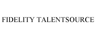 mark for FIDELITY TALENTSOURCE, trademark #88626506