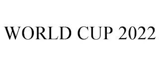 mark for WORLD CUP 2022, trademark #88661263
