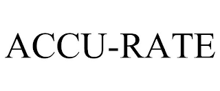 mark for ACCU-RATE, trademark #88663336