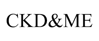 mark for CKD&ME, trademark #88666737