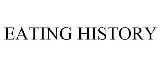 mark for EATING HISTORY, trademark #88675412
