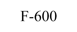 mark for F-600, trademark #88786309