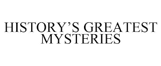 mark for HISTORY'S GREATEST MYSTERIES, trademark #88796680