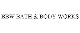 mark for BBW BATH & BODY WORKS, trademark #88854772